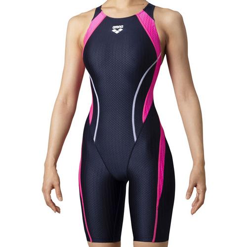 アリーナ競泳水着 AQUA RACING ◆セール特価品◆ ARN0053W お洒落 BKRD NVPK