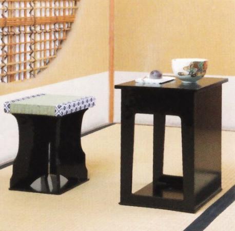 茶道具 茶事座椅子 二点セット正座の苦手な方、椅子でお茶をどうぞ!
