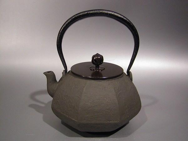 茶道具鉄瓶 八角