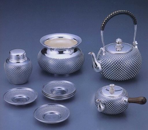 銀製茶器・茶道具純銀製 茶器 5点セット大野芳光作