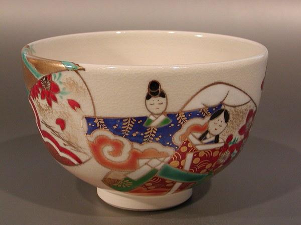 茶碗 貝雛絵、 山川敦司作