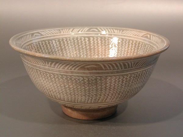 高麗写 三島茶碗、 三代 清水日呂志 駕洛窯作