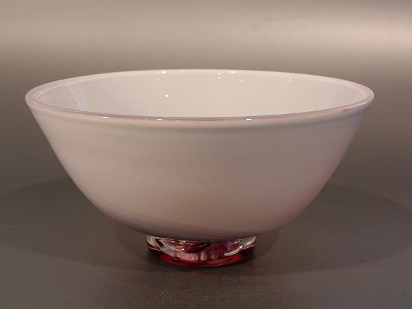 茶碗 超耐熱 燿変ガラス 琥珀(こはく)色、 由水常雄作