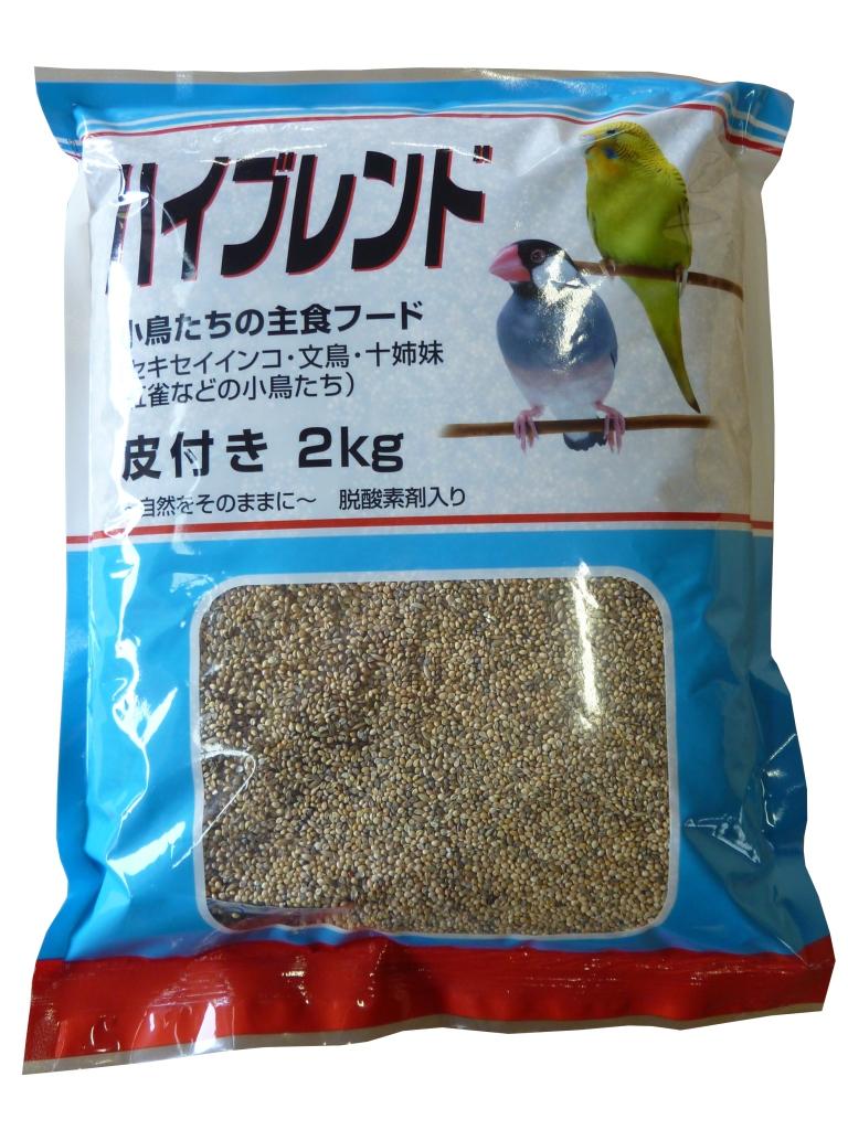 小分け 人気上昇中 長期保存 新色追加 小鳥の餌 文鳥 フィンチ D 2kg脱酸素剤入り インコ 皮付き 小鳥のご飯
