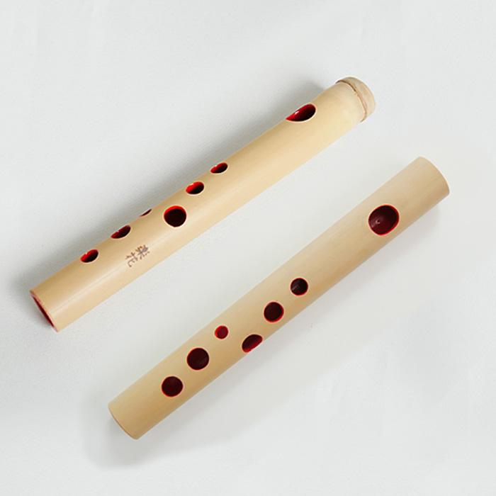 篠笛楽花 ミニチュア篠笛 CUTE 長さ約16cm