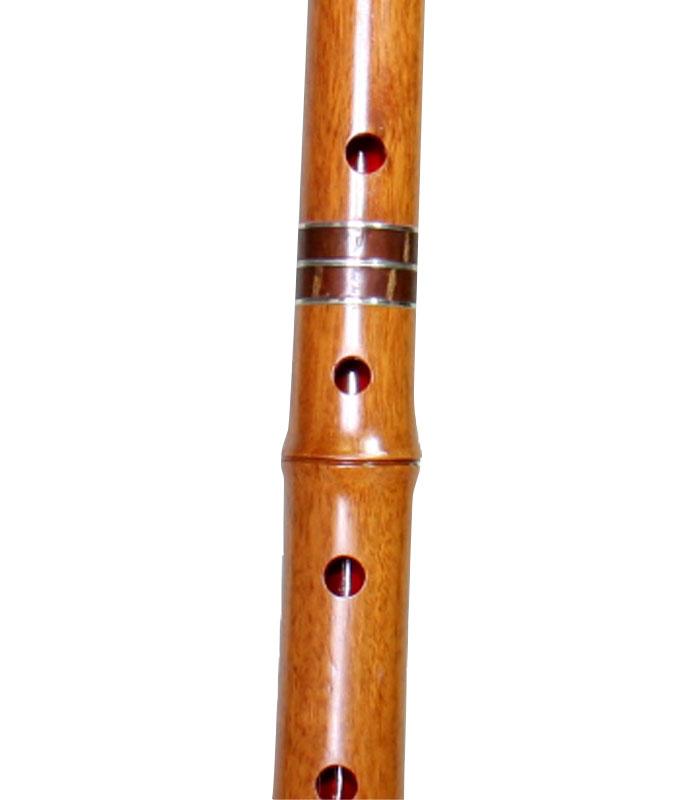 胡蝶宝尺八琴古流紫檀曲管節あり継ぎ手あり1尺6寸1尺8寸(0158)