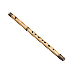 FURYU-8 篠笛 唄物 7穴8本調子(C調) 漆塗 籐巻 天地巻き 竹製