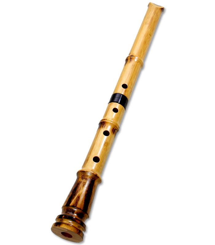 蝴蝶宝 尺八(合竹) 直管 節あり 2尺2寸(正律管) (0103)