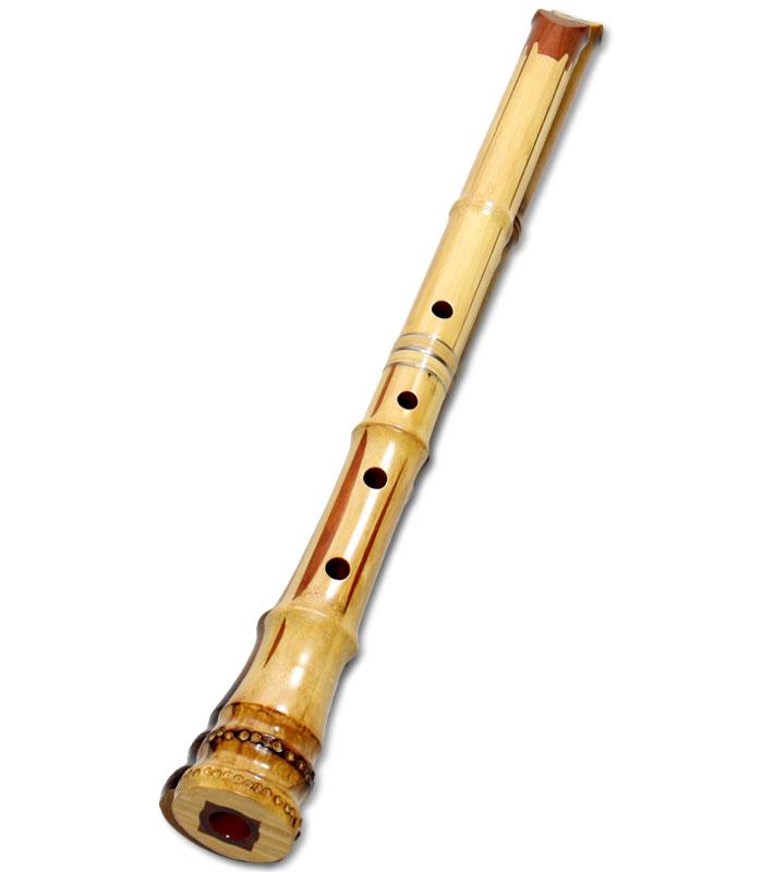 胡蝶宝 尺八(花合竹) 曲管 節あり 小根付 1尺6寸、1尺8寸 (0165)