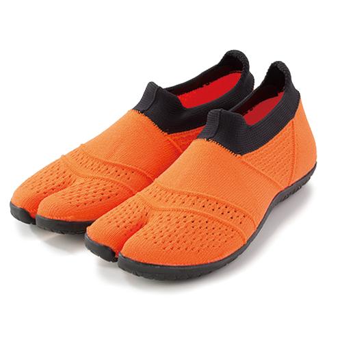 hitoe(オレンジ)地下足袋 型トレーニングシューズ