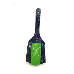 スペシャル鳴子 一枚バチ 紺 (黄緑) 5組セット