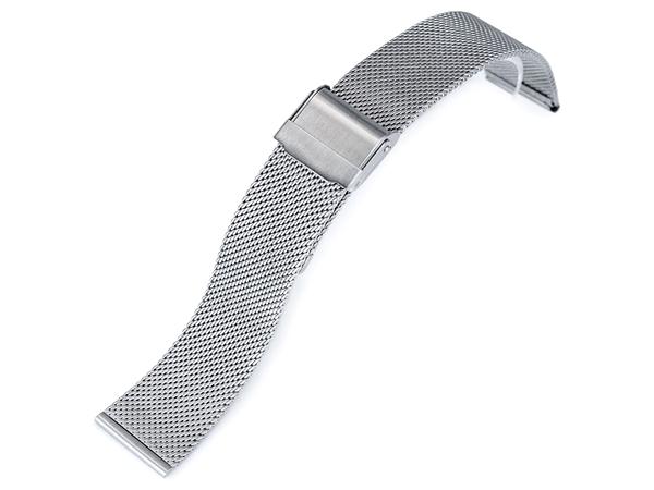 20mm TAIKONAUT 時計ベルト ワイヤーメッシュバンド クラシック ブラッシュドシルバー