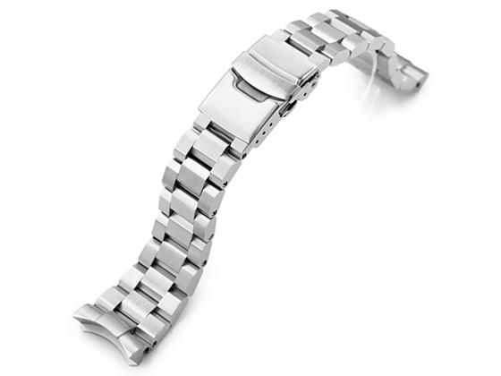 22mm メタル時計バンド ステンレススチール ヘクサッド お買い得品 オイスター ブレスレット ダイバー SKX011他 限定特価 セイコー SKX007 for SKX009
