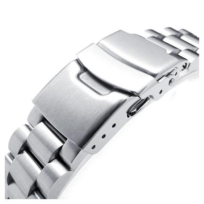 20mm メタル時計バンド ステンレススチール エンドミル ブレスレット ブラッシュドシルバー ストレートエンド