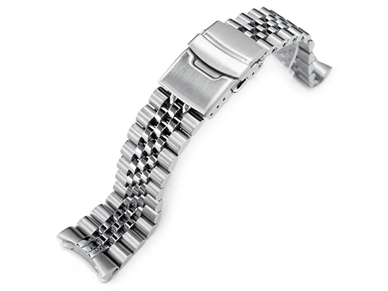 別倉庫からの配送 本物 22mm メタル時計バンド ステンレススチール ジュビリー ブレスレット for SKX009 SKX011他 SKX007 ダイバー セイコー