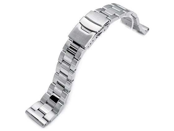 21.5mm メタル時計バンド ステンレススチール オイスター ブレスレット ツートン for セイコー SEIKO Tuna SBBN029