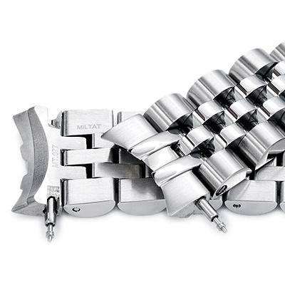 20mm メタル時計バンド ステンレススチール ANGUS ジュビリー ブレスレット Vクラスプ for セイコー メカニカル MECHANICAL SARB035