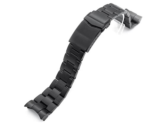 22mm メタル時計バンド ステンレススチール オイスター ブレスレット PVDブラック Vクラスプ for TUDOR チュードル ヘリテージ ブラックベイ 79220, 79230