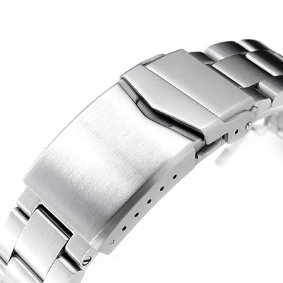 20mm メタル時計バンド ステンレススチール オイスター ブレスレット Vクラスプ for セイコー 62MAS SPB051, SPB053,