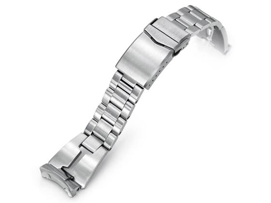 22mm メタル時計バンド ステンレススチール RAZOR ブレスレット Vクラスプ for セイコー 5スポーツ 2019 SBSA001, SBSA003, SBSA005他