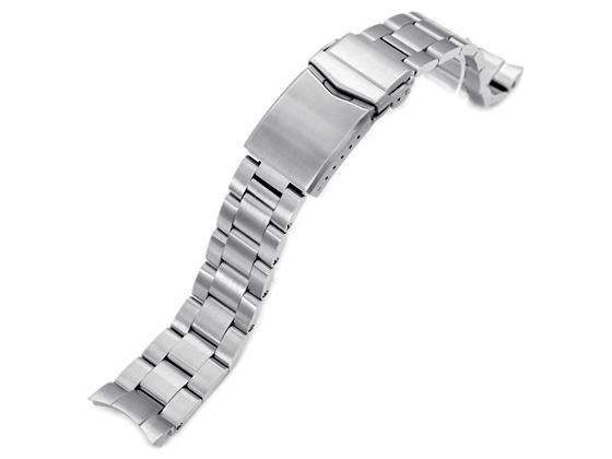 20mm メタル時計バンド ステンレススチール オイスター ブレスレット Vクラスプ for セイコー メカニカル MECHANICAL SARB035