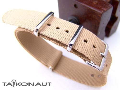 値下げ 20mm 時計ベルト ご注文で当日配送 NATO G10 デザート ナイロン ポリッシュドバックル