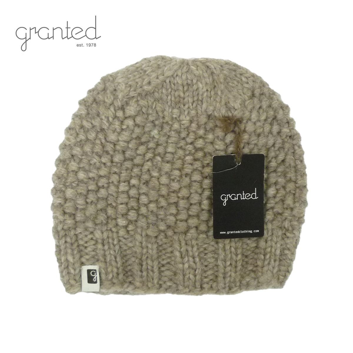 GRANTED グランテッド KNIT CAP PEBBLE TOQUE HAT メンズ/レディース グレー FREE[ニット帽 ウールキャップ キャップ 帽子 無地 ウール ニット カナダ製 ブランド アメカジ アウトドア 灰色]