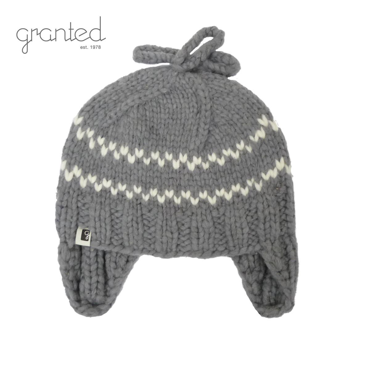 GRANTED グランテッド KNIT CAP FLAT EAR HAT メンズ/レディース グレー FREE[ニット帽 ウールキャップ キャップ 帽子 耳あて ウール ニット カナダ製 ブランド アメカジ アウトドア 灰色]