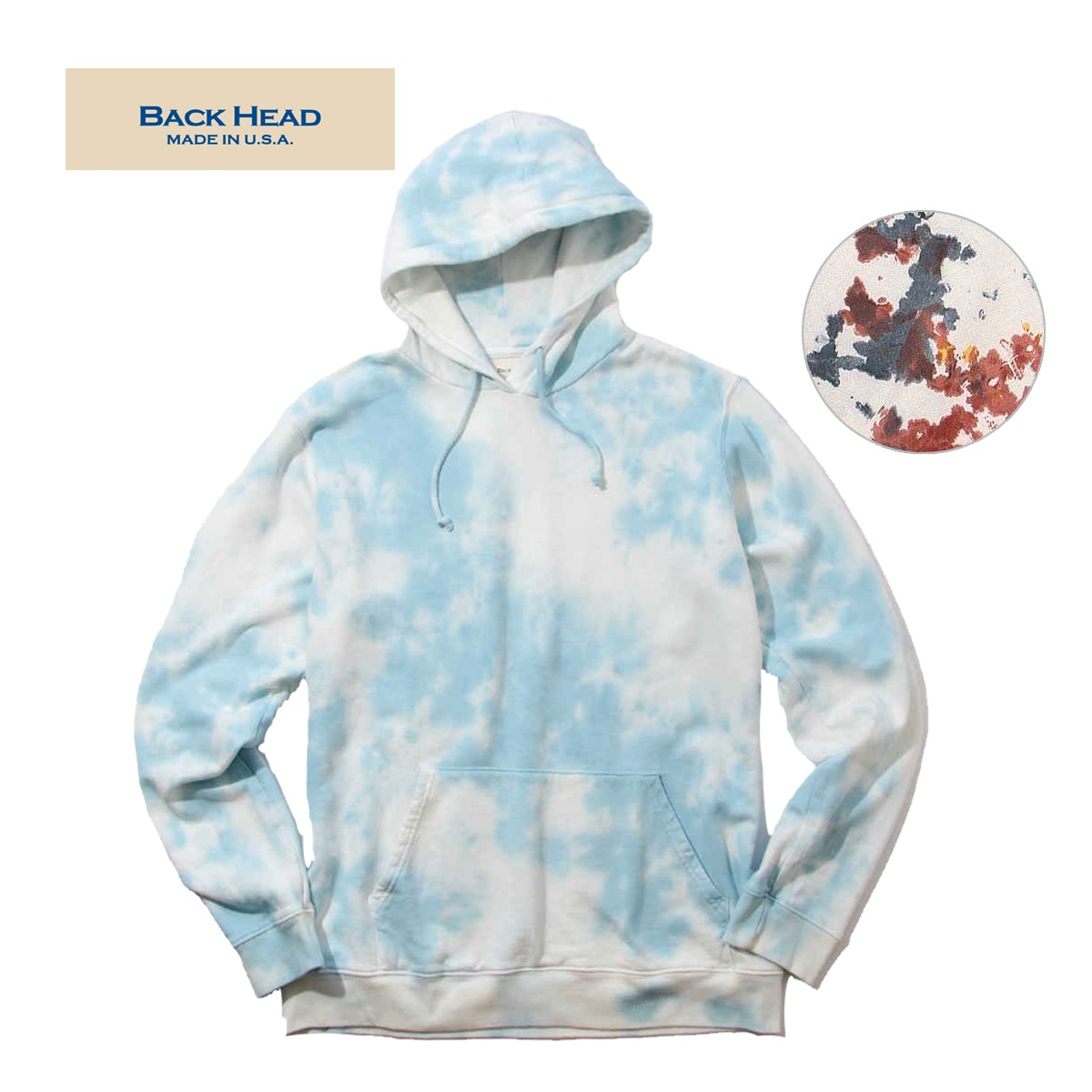BACK HEAD バックヘッド MADE IN USA TYEDYE SWEAT P/O HOODIEBACK HEAD バックヘッド MADE IN USA TYEDYE SWEAT P/O HOODIE