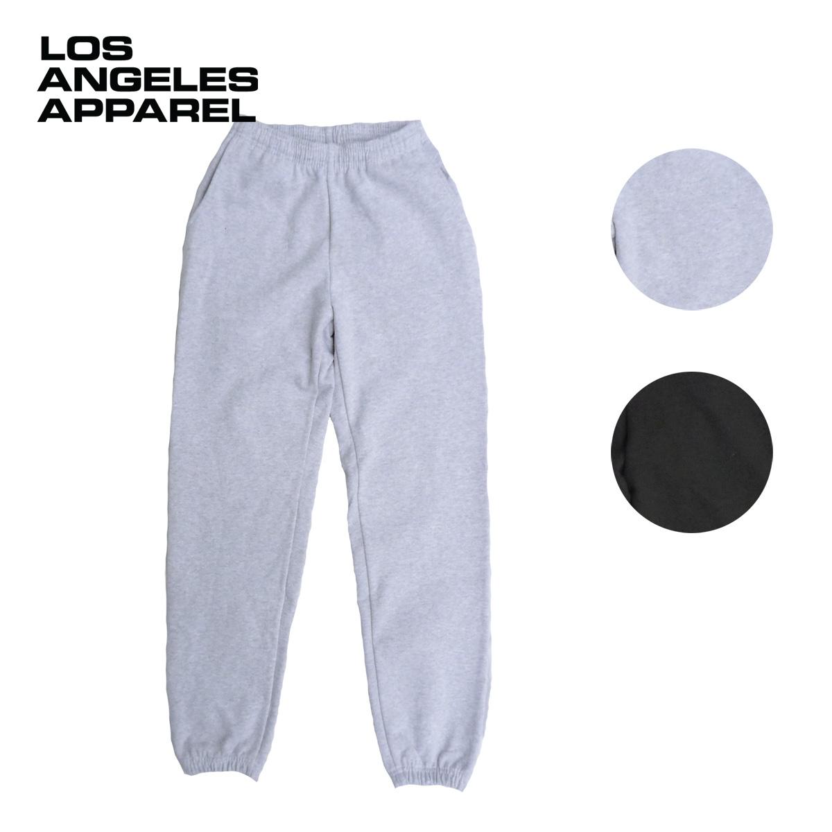LOS ANGELES APPAREL ロサンゼルスアパレル 14oz SWEAT PTANTS メンズ アッシュ/ブラック S-L[スウェットパンツ パンツ 裏起毛 無地 シンプル アメリカ USA ブランド アメカジ アメカジブランド 黒]