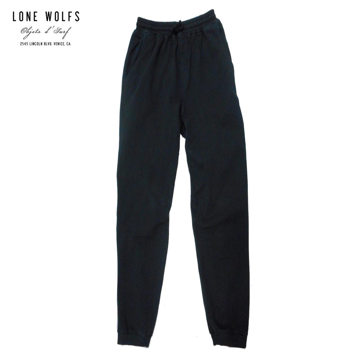 LONE WOLFS ローンウルフズ スエットパンツ メンズ ブラック S-L[スウェットパンツ パンツ 無地 シンプル ルームウェア おしゃれ アメリカ USA ブランド サーフ アメカジ サーフファッション サーフブランド 黒]