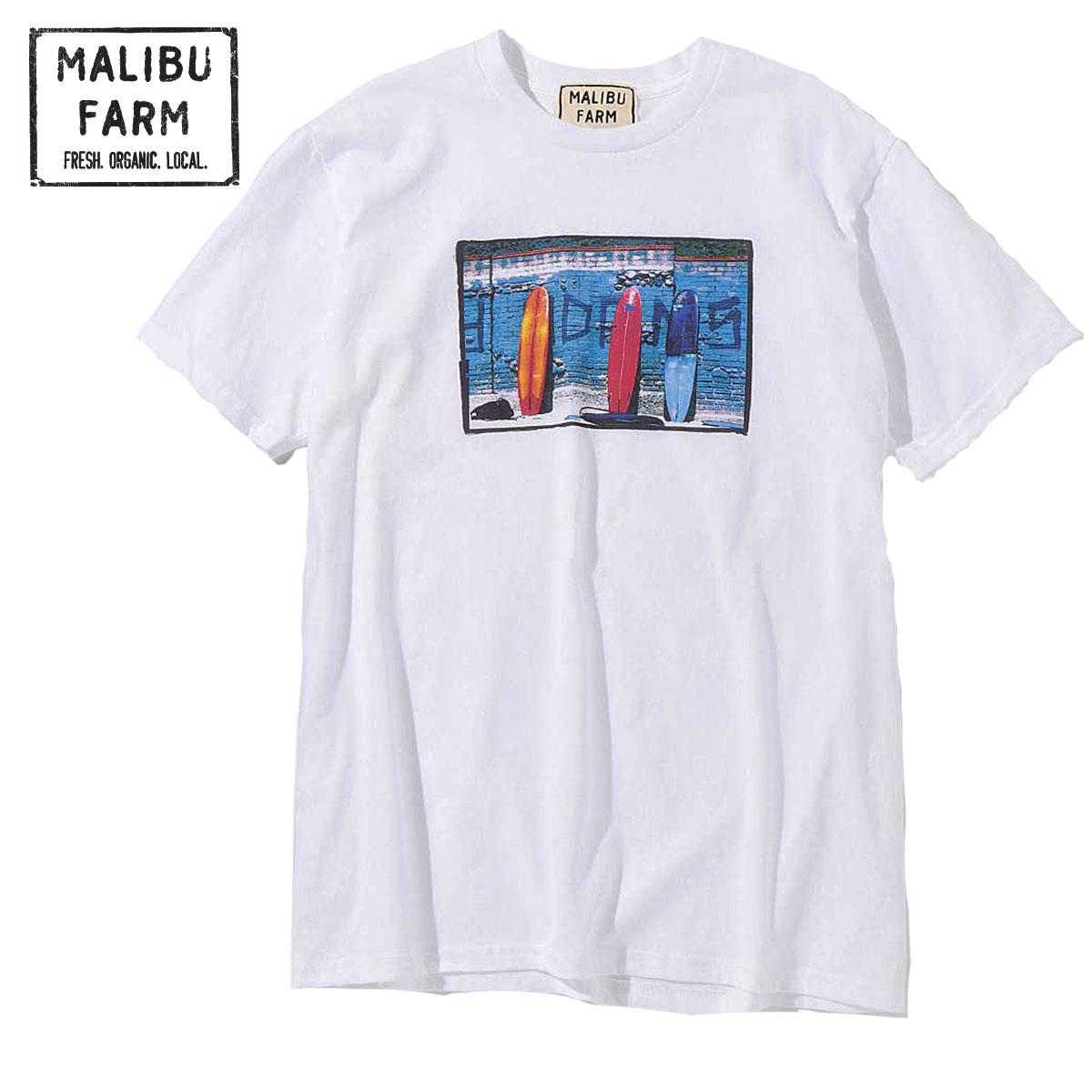 MALIBU FARM マリブファーム PHOTO BORD PRINT S/S TEE
