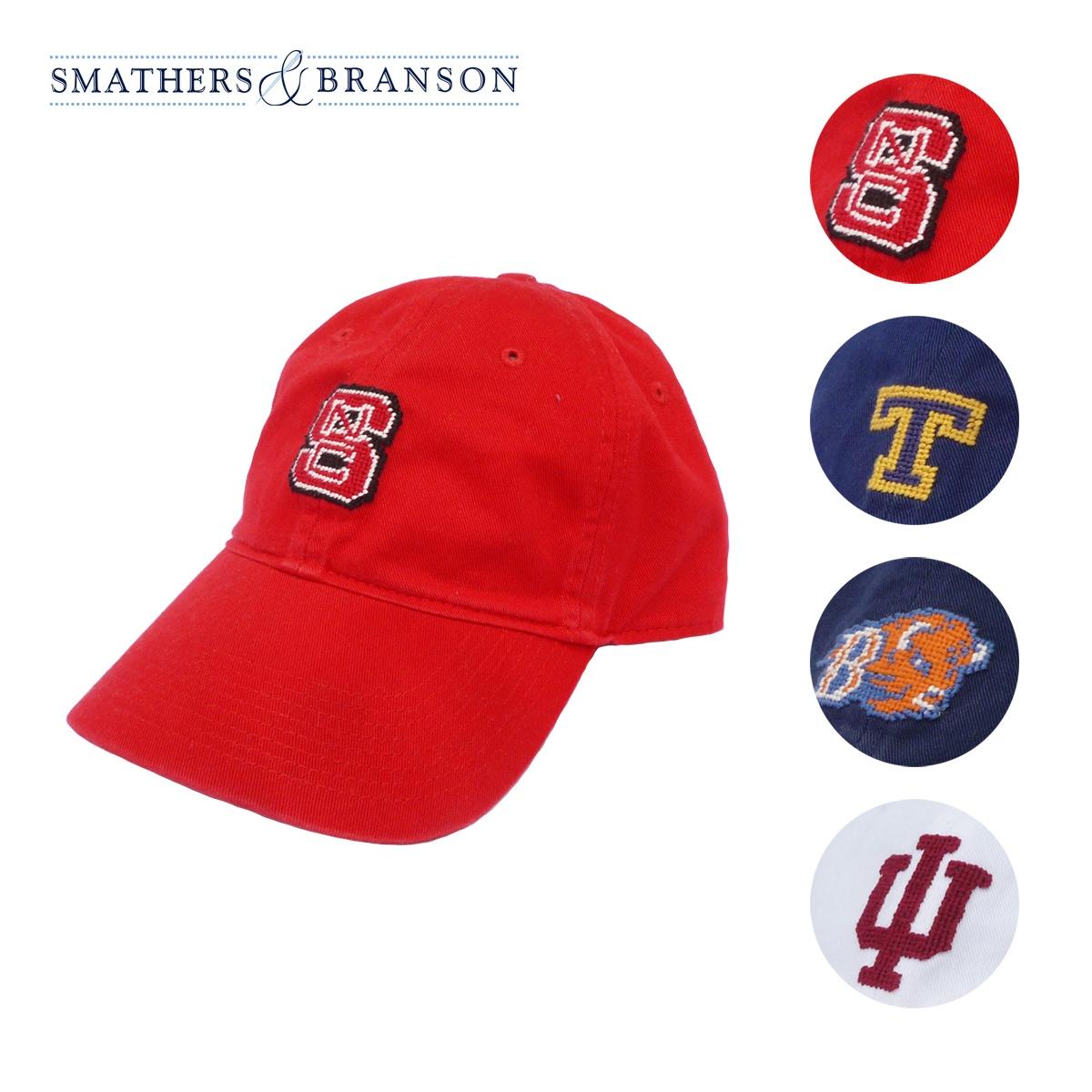 Smathers&Branson スマザーズ&ブランソン IVY'S COLLEGE CAP メンズ/レディース NCS/TRINITY/BUCKNELL/INDIANA FREE[スマザーズブランソン 帽子 パネルキャップ キャップ カレッジ カレッジキャップ 大学 ロゴ アメカジ アイビー ブランド 赤 紺 白]