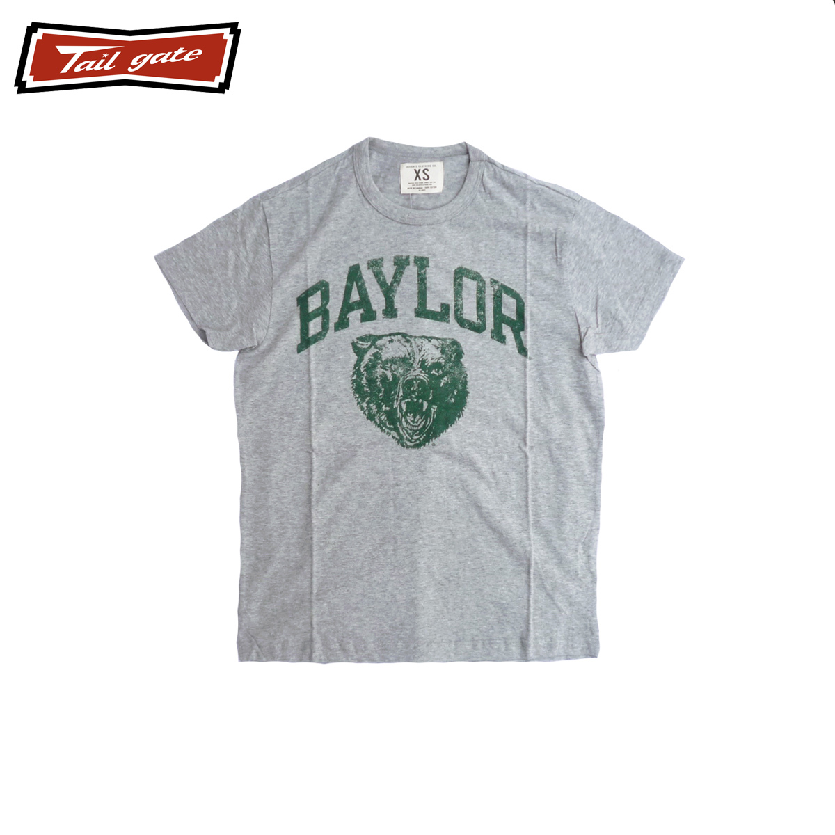 TAILGATE テイルゲート BAYLOR メンズ/レディース ヘザーグレー XS-M[Tシャツ 半袖 半袖Tシャツ カットソー ロゴ カナダ カナダ製 アメカジ アメカジブランド アメカジファッション ブランド]