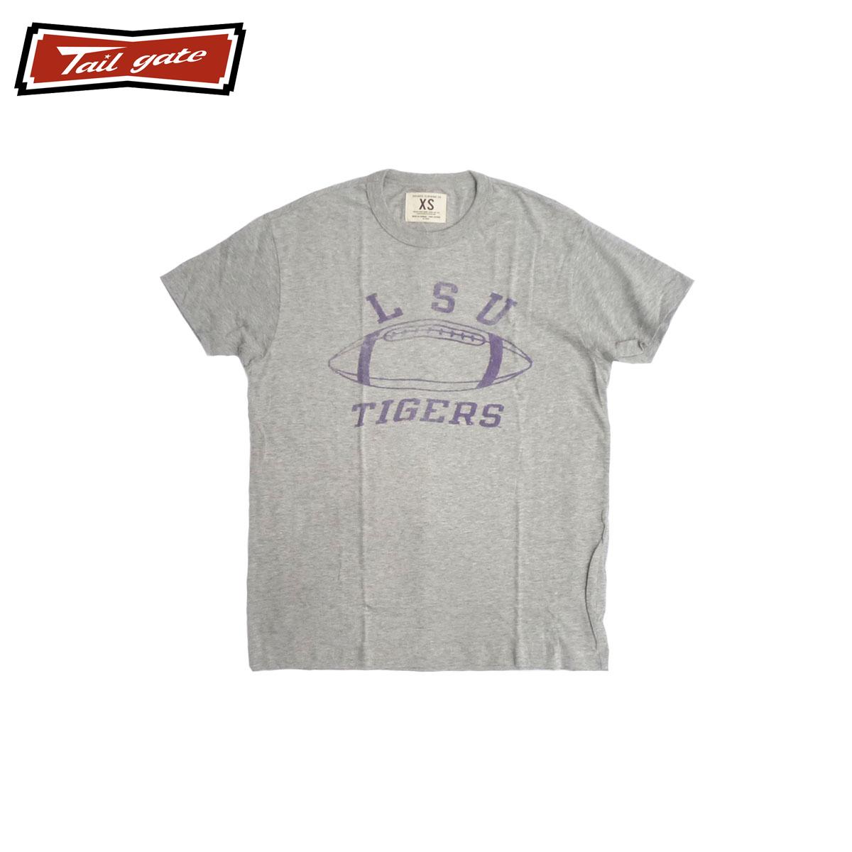 TAILGATE テイルゲート ルイジアナ Tシャツ メンズ/レディース グレー XS-M[Tシャツ 半袖 カレッジ プリント カナダ カナダ製 アメカジ アメカジファッション ブランド]
