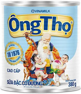 """コンデンスミルクタイプのクリーム缶 ベトナムではおなじみのブランド""""OngTho"""" ヴィナミルク 数量は多 コンデンスクリーム 定番 380g OngTho 缶"""