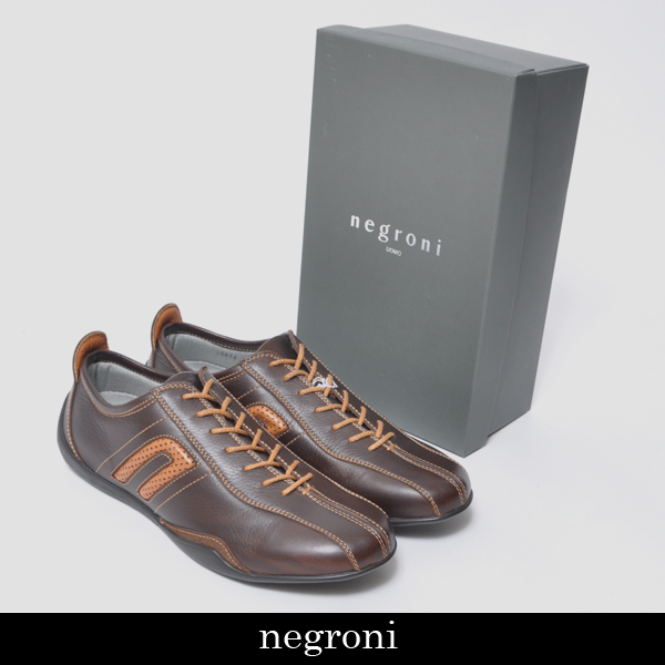 Negroni(ネグローニ)メンズ スニーカーブラウンNI 15944