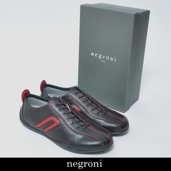 Negroni(ネグローニ)メンズ スニーカーブラック×レッドNI 15944