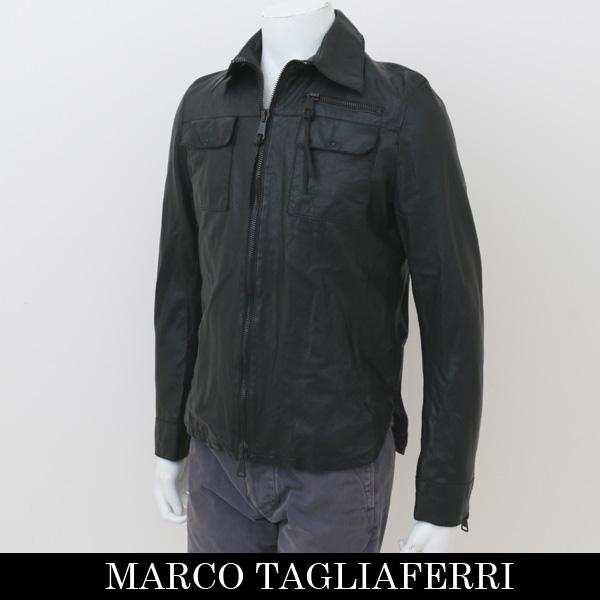 MARCO TAGLIAFERRI(マルコ タリアフェリ)レザージャンバーブラック447 80110001(MTUA 800 NCL) XSサイズのみ