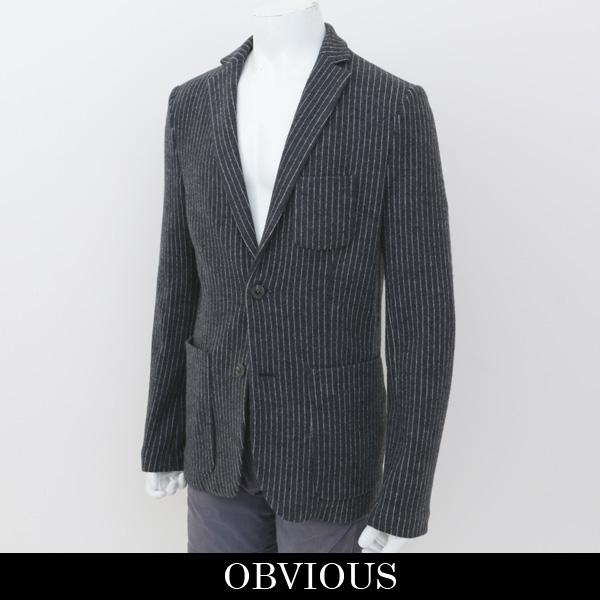 OBVIOUS(オブビアス)メンズジャケットチャコールグレー0BW14450
