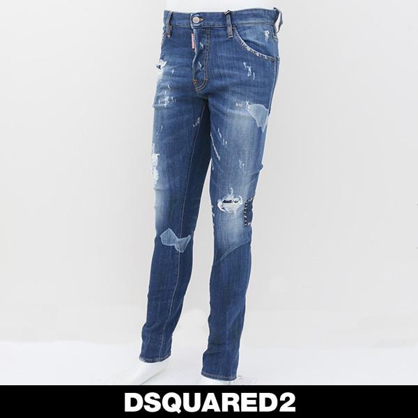 DSQUARED2(ディースクエアード)ダメージ加工ジーンズCOOL GUY JEANS71LB0168