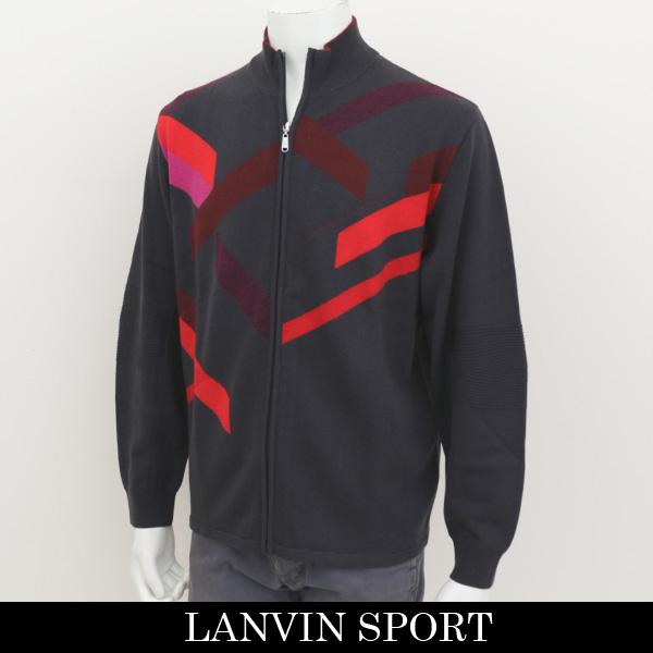 LANVIN SPORT(ランバン スポール)ジップアップセーターチャコールグレー系VMG4043B3 N14