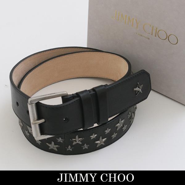 JIMMY CHOO(ジミーチュウ)レザーベルトブラックARCHER BLS 131