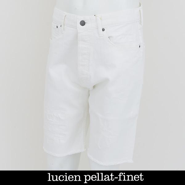 lucien pellat-finet(ルシアンペラフィネ)デニムショートパンツホワイトDE95H(213 32503)
