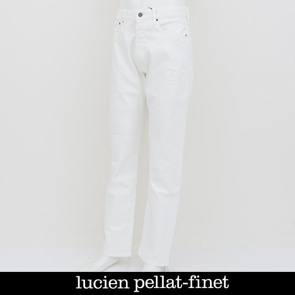 lucien pellat-finet(ルシアンペラフィネ)デニムパンツジーンズホワイトDE94H(213 31501)