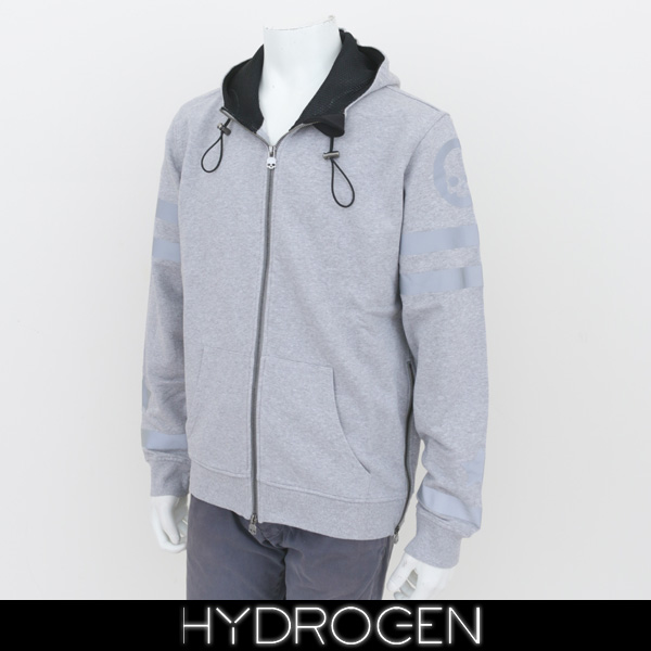 HYDROGEN(ハイドロゲン)ジップアップパーカーグレー200624