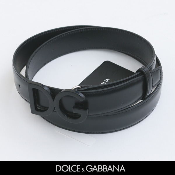 Dolce&Gabbana(ドルチェ&ガッバーナ)DGバックルレザーベルトブラックBC4129 A1607