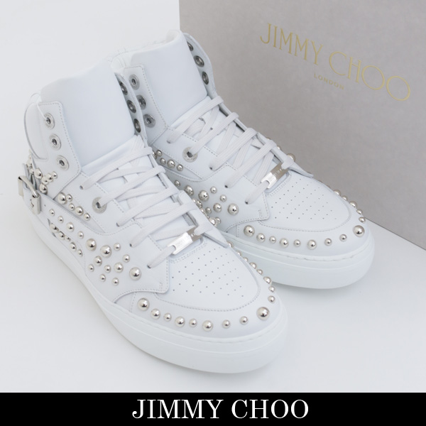 JIMMY CHOO(ジミーチュウ)ハイカットスニーカーホワイトRUBEN HST