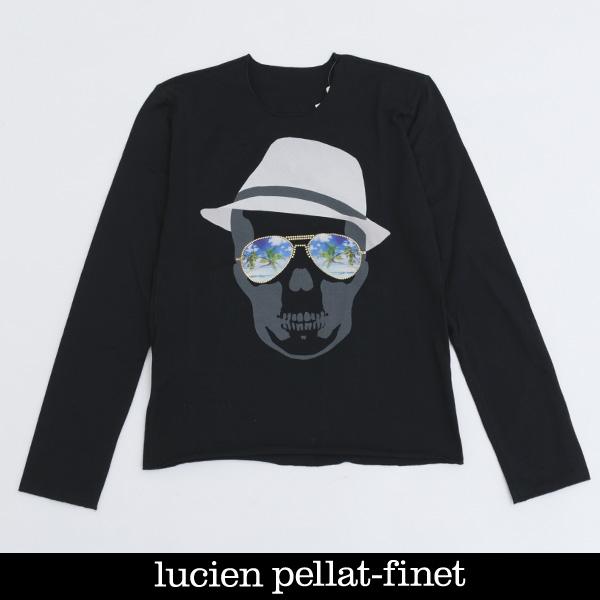 Lucien Pellat-finet(ルシアンペラフィネ)レディーススカルロングTシャツブラックEVF2007(393 33405)
