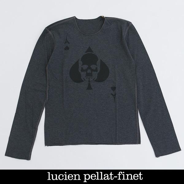 Lucien Pellat-finet(ルシアンペラフィネ)レディースロングTシャツグレーEVF1825(353 83415)